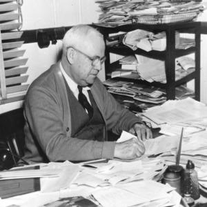 David Clark at desk