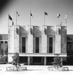 Front view of Reynolds Coliseum, North Carolina State College