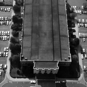 Reynolds Coliseum, overhead view