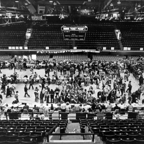Reynolds Coliseum, interior view