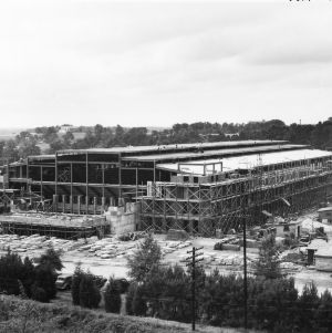 Reynolds Coliseum under construction, July 1, 1949.