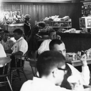 Quad Snack Bar, interior