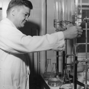 Dr. Nathan S. Hall in laboratory