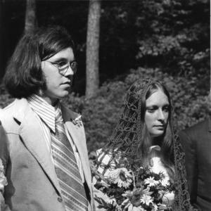 Wedding of student body president Richard Gusler and Doris Wells