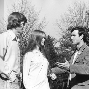 Ron Jessup campaigning before his election for student body president