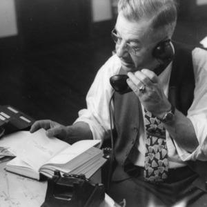 Frank H. Jeter on phone