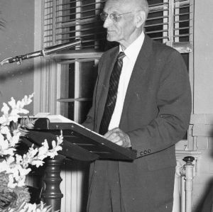 Edward S. King at podium