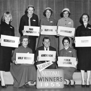 North Carolina winners at National 4-H Congress, 1955.