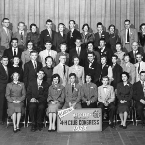 North Carolina's delegation to the National 4-H Congress, 1953.
