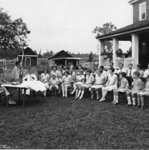 4-H club meeting at a Pender County, N.C., farm home, 1927