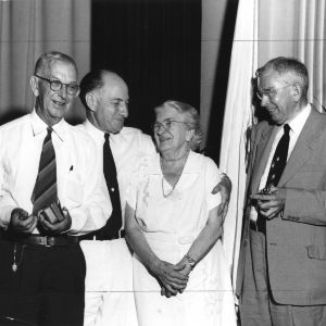Agricultural extension pioneers I. O. Schaub, L. R. Harrill, Jane S. McKimmon, and Clarence Poe