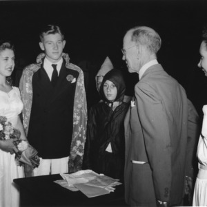 Crowning of 4-H King and Queen of Health during 4-H Club Week in Raleigh, North Carolina.
