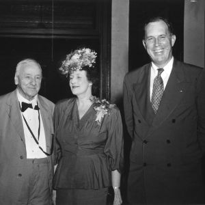 Honorable Josephus Daniels, Mrs. Margaret Pierce Royall, and Secretary of War Kenneth C. Royall, attending the 15th Annual 4-H Club Week, August 18-23, 1947