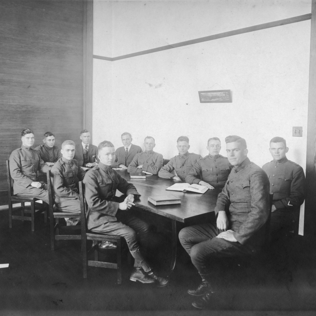 YMCA cabinet, North Carolina State College, 1918-1919.