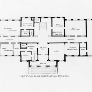 First floor plan of the Agricultural Building (Patterson Hall)