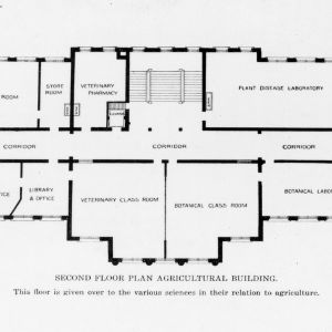 Second floor plan of the Agricultural Building (Patterson Hall)