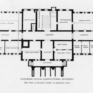 Basement floor plan of the Agricultural Building (Patterson Hall)