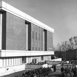 Schaub Food Science Building dedication ceremonies, North Carolina State University, November 26, 1968.