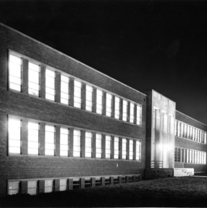 Scott Hall at night