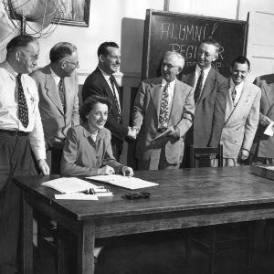Wake County Alumni Club during Alumni Week, 1950