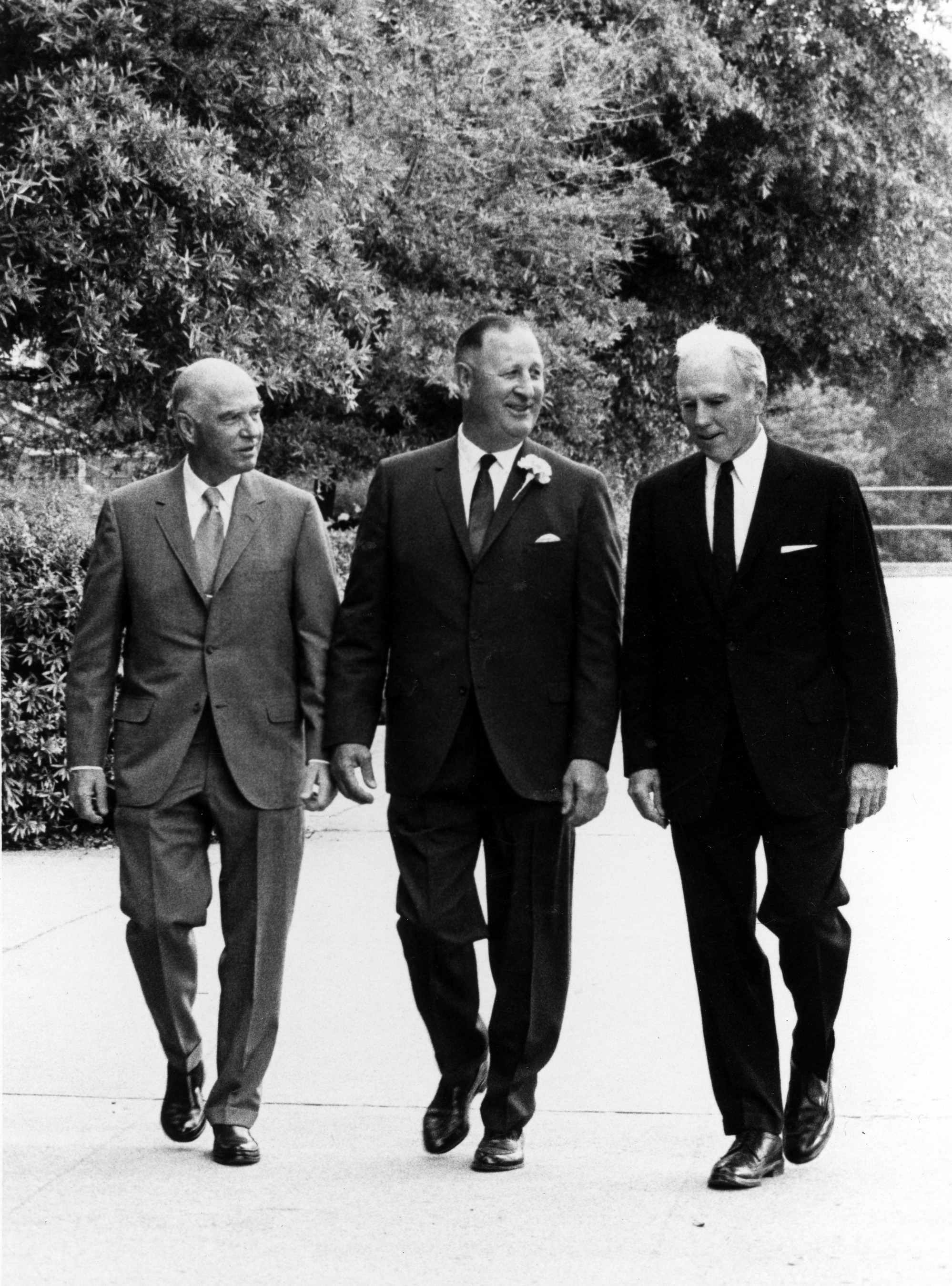 Paul Derr, Roy Clogston, John T. Caldwell (left to right)