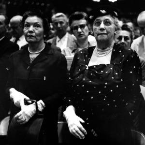 Mrs. Robena Harrelson and Mrs. Ida M. Brooks at Chancellor Caldwell's installation