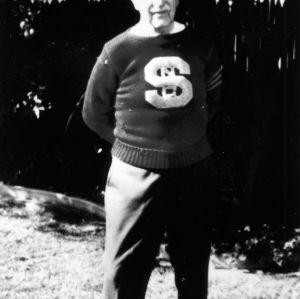 Joseph G. (Sparky) Adams, Quarterback, 1927 championship football team
