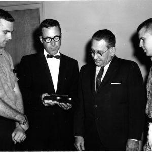 Professor Charles R. Bramer, Dean Ralph E. Fadum and others