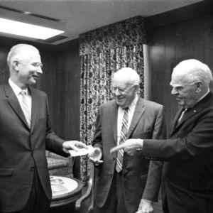 Dean David Chaney, Dr. Charles Goldthwait, and former governor Luther Hodges