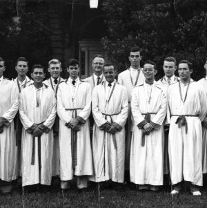 Members of Golden Chain Honor Society group photo, including Gerald O. T. Erdahl