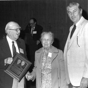 Alvin M. Fountain, Maxine Fountain, and Bruce Poulton at event