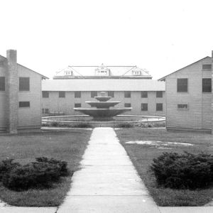 Barracks Square and Diesel Engineering Laboratory fountain