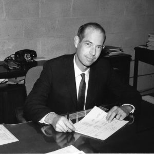 Engineering Department head Patrick H. McDonald in office