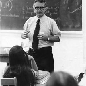 Professor Guy Owen lecturing in classroom