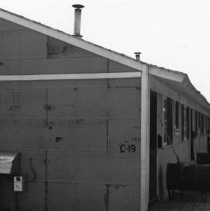 Side view of Vetville houses