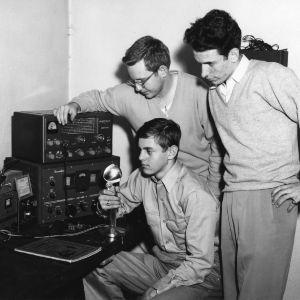 Student amateur radio operators at Gaston Technical Institute