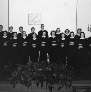 The choir of the West Campus Branch of the State College YMCA, which provides the music for the worship service each Sunday.