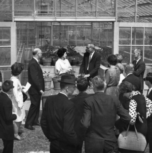 Lady Bird Johnson touring North Carolina State College School of Agriculture