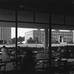 View from inside Erdahl-Cloyd Student Union