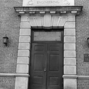 Entrance to old Mann Hall, now part of Daniels Hall