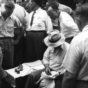 Flock selectors and blood testers school, 1949.