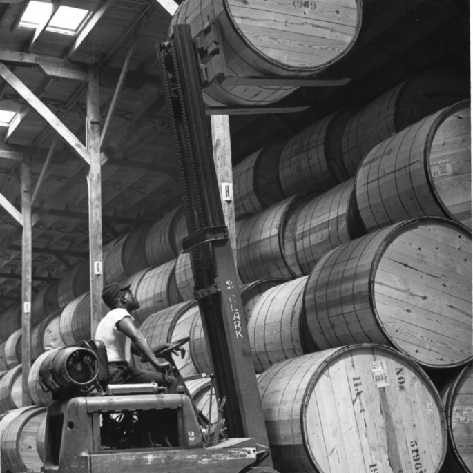 Tobacco storage warehouse, 1960.