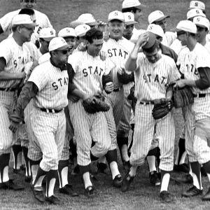 N. C. State baseball team celebrates the ACC Championship