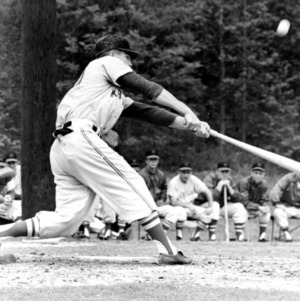 N. C. State baseball player at the plate
