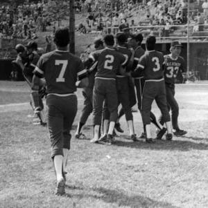 N. C. State baseball team celebrating ACC Championship win