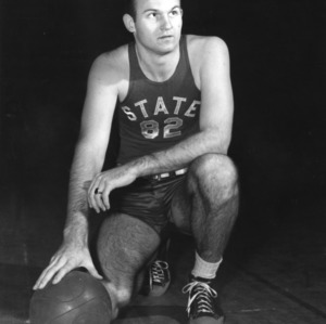 #82 Center Bob Hahn, N.C. State University basketball