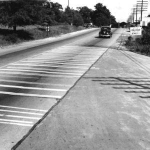 Site of paint performance studies conducted by Professor Charles R. McCullough for State Highway Department