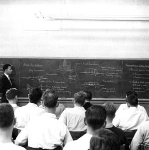 Dr. Ralph E. Fadum in classroom