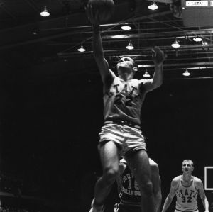 #22 with the layup against University of Southern California, 1966