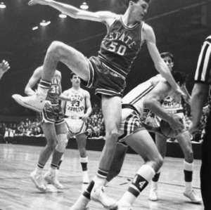 #50 defends the basket against UNC-Chapel Hill, 1966